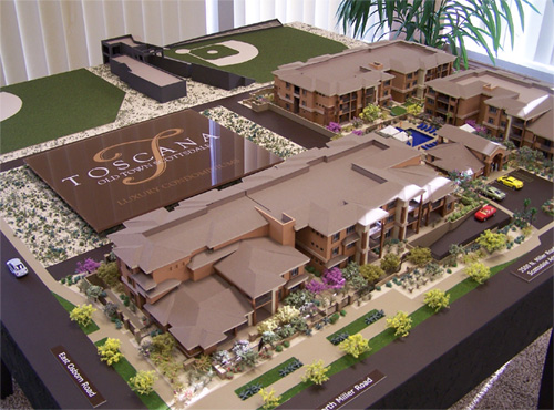 Toscana Luxury Condos, Old Town Scottsdale Showroom. Scottsdale, AZ Model by Upscale Architectural Models, Inc.