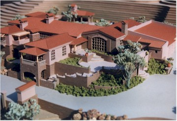 Kraemer Res, Lot 80, Paradise Valley, AZ; Model by Upscale Architectural Models, Inc.
