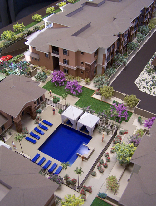 Toscana Luxury Condos, Continental Group, AZ Model by Upscale Architectural Models, Inc.